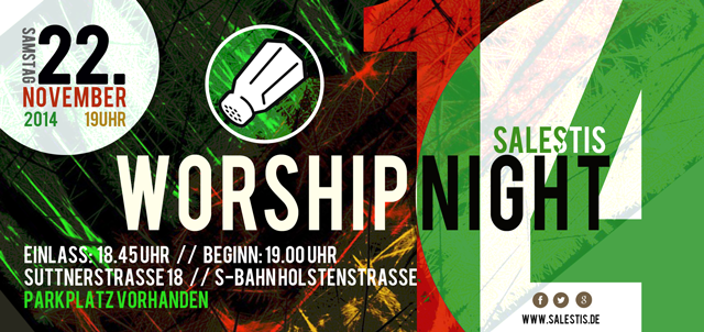 Salestis Worshipnight 14 Flyer
